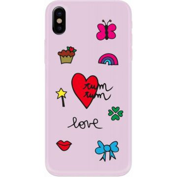 Cover Silvia Tosi rigida con Ricamo in Cotone per iPhone X / Xs copia